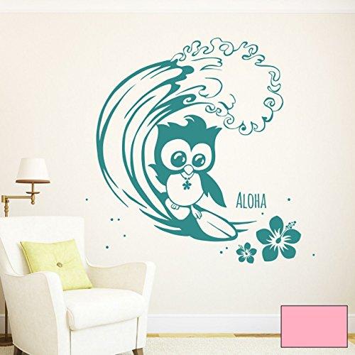 graz-design-adhesivo-decorativo-para-pared-buho-surfend-surfer-surfer-buho-buho-wandtat-adhesivo-m15