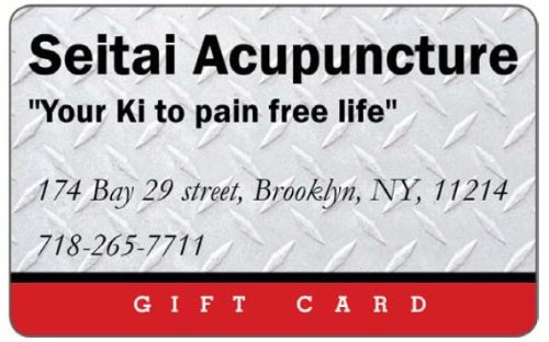 Seitai Community Acupuncture Gift Card