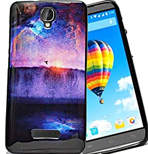 ECellStreet Exclusive Sparkle Printed Back Case Cover Back Cover ForLava Iris Fuel F2 -Sun rising