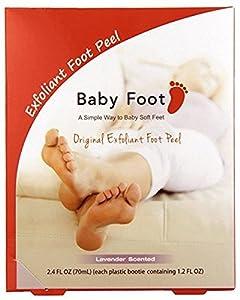 Baby Foot Original Exfoliating Foot Peel 2 Booties, Lavender, 2.4 Fluid Ounce