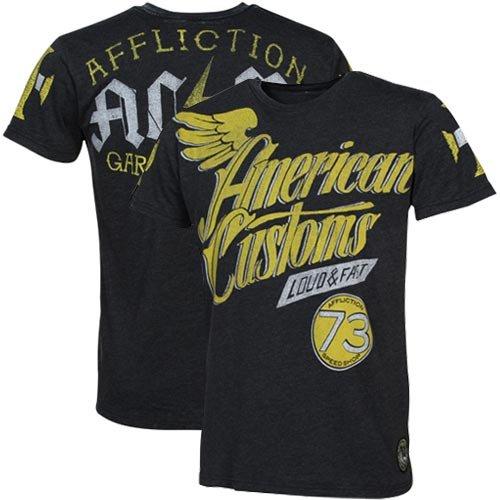Affliction American Customs Speedway T-Shirt - Black Burnout (Medium)