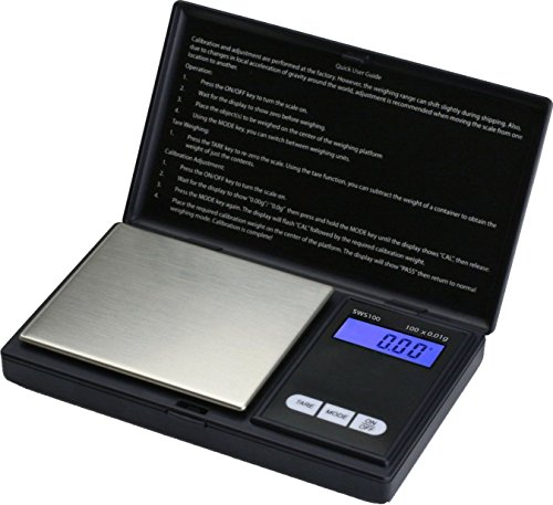 Smart-Weigh-SWS100-Elite-Series-Digital-Pocket-Scale-100g-by-001g-Black-New