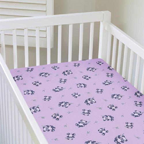 My Baby Panda Design Crib Sheet, Pink front-695835