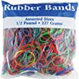 BAZIC Assorted Dimensions 227g/0.5 lbs. Rubber Bands, Multi Color (465-48P)