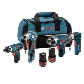 Bosch CLPK40-120 12-Volt Max 4-Tool Litheon Combo Kit