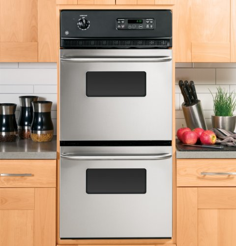 Ge 24 In Double Electric Wall Oven In Stainless Steel Jrp28skss ...