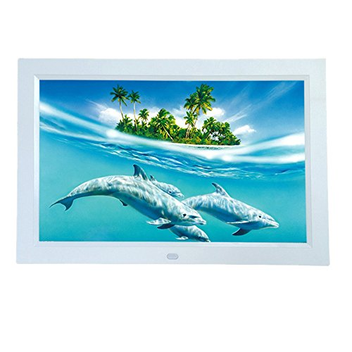 SJD-12-inch-Digital-Photo-HD-Video-720p-Frame-with-16GB-Built-in-MemoryWhite