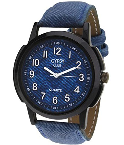 Gypsy Club Analogue Blue Dial Watch for Men and Boys - GCM154