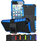 iPhone SE Case, OEAGO iPhone SE Cover Accessories - Tough Rugged Dual Layer Protective Case with Kickstand for Apple iPhone SE 4.0 inch - Blue