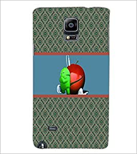 PrintDhaba Funny Image D-3782 Back Case Cover for SAMSUNG GALAXY NOTE 2 (Multi-Coloured)