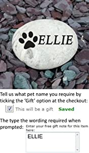 Pet Memorial Pebble MEDIUM (Free delivery to UK mainland) from Signs & Numbers