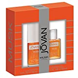 Jovan Musk Perfume Set for Men (Color: Jovan Musk Men 2pc - 2 fl oz CS / 2 fl oz ASC)