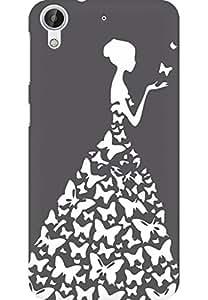 AMEZ designer printed 3d premium high quality back case cover for HTC Desire 626 (grey white girl princess)