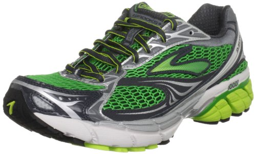 Brooks Men's Ghost 4 M White/Silver/Grey/Lime Trainer 1100981D445 7.5 UK, 8.5 US