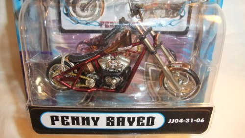 MUSCLE MACHINES 1:31 SCALE JESSE JAMES PENNY SAVED WEST COAST CHOPPERS DIE-CAST COLLECTIBLES
