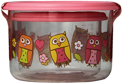 Sugarbooger Good Lunch Snack Container, Hoot, 2-Count
