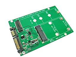 Sintech 2-IN-1 NGFF M.2 B-M KEY or mSATA SSD to SATA III 3 Adapter Card