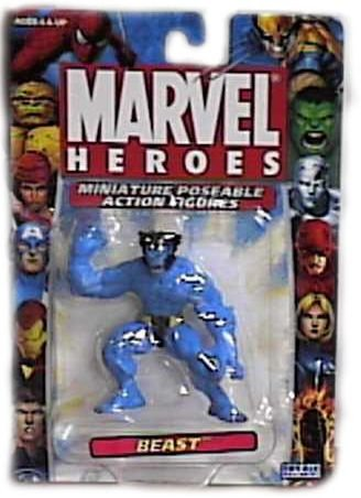 Marvel Heroes Miniature Poseable Beast Action Figure