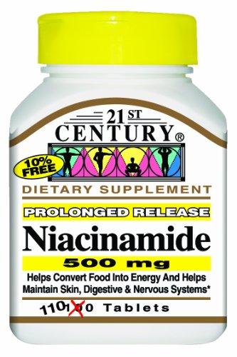 21St Century Niacinamide 500 Mg Prolonged Release Tablets, 110-Count (Pack Of 2)