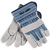 Wells Lamont 224 White Mule Leather Gloves, Large