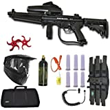 Tippmann A-5 Paintball Marker Gun 3Skull Flatline Sniper Set + Paddles