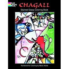 Chagall Stained Glass Coloring Book