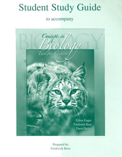 Student Study Guide to accompany Concepts in Biology