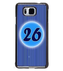 Printvisa 2D Printed Numerology Designer back case cover for Samsung Galaxy Alpha- D4246