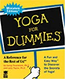 "Yoga for Dummies: Miniature edition (076240986X) by Feuerstein, ""Georg Ph.d"""