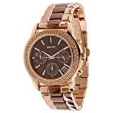 DKNY Women's Quartz Watch Park Avenue Chrono NY8433 with Metal Strap