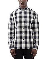 edc by ESPRIT Camisa Hombre (Blanco / Negro)