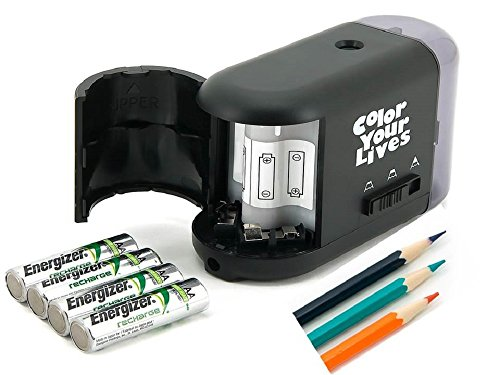 Pencil sharpener electric and battery operated best quiet for Best home office electronics