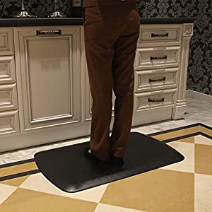 "The Original 7/8"" AMCOMFY Anti Fatigue Mat 22 in x 36 in Commercial Quality Ideal for Kitchens Standup Desks and Garages"
