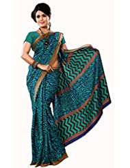 Anuraag's Malgudi Silk, Silk Cotton Saree With Unique Self Prints ( Green Colour )