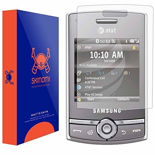 samsung-propel-pro-screen-protector-i627full-coverage-matte-skinomir-matteskin-anti-glare-anti-finge