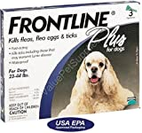 3 Month Frontline Plus Blue for Dogs 23-44 Lbs(10-20 Kg)