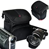 First2savvv stylish heavy duty black Nylon camcorder case bag for Canon LEGRIA HF R48
