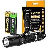 Fenix LD09 2015 version 220 Lumen LED Tactical Flashlight with EdisonBright AA Alkaline battery