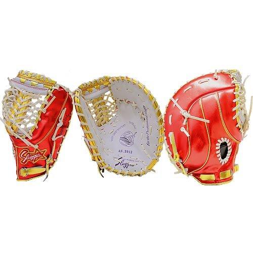 超限定 オールスター使用モデル 久保田スラッガー 軟式 野球用 一塁手用 ファーストミット右投用 AS2012 白×赤×金
