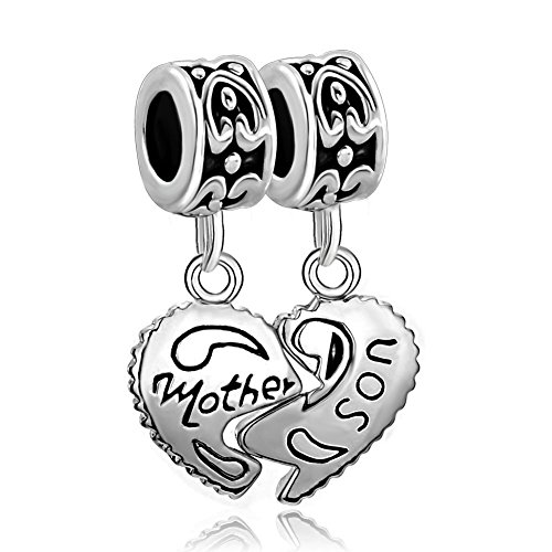 fit-pandora-charms-silver-plated-heart-mother-son-family-puzzle-dangle-beads