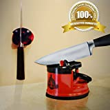#1 Knife Sharpener - Master Chef Professional Knife Sharpener Best in Quality Featuring Tungsten Carbide/ Wall Mount/ Counter Mount No Hardware Needed - Powerful Pocket Kitchen Knife Sharpening System from Blade Butler. [Alternative to Knife Sharpener Stone]