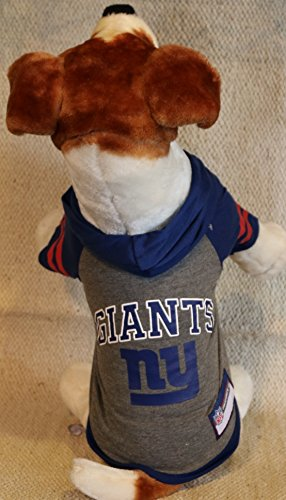 NEW YORK GIANTS ★ DOG PET HOODIE SWEATER ★ ALL SIZES ★ LICENSED NFL (Small) (Puppy Football compare prices)