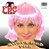 Short Bob Babe Fancy Dress Wig Pink
