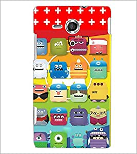 PrintDhaba Cartoon D-2812 Back Case Cover for SONY XPERIA SP (Multi-Coloured)