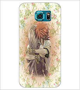 PrintDhaba Couple D-5440 Back Case Cover for SAMSUNG GALAXY S6 (Multi-Coloured)