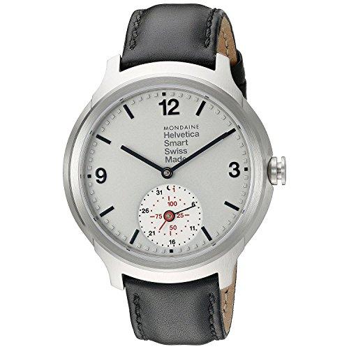 Mondaine Men's MH1B2S80LB Helvetica No.1 Analog Display Quartz Black Watch