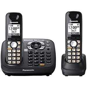 Panasonic KX-TG6582T DECT 6.0 PLUS Link-to-Cell Bluetooth Convergence Solution with 2 Handsets