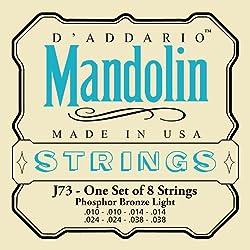 D'Addario J73 Mandolin Strings, Phosphor Bronze, Light, 10-38