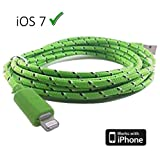 Braided unbreakable 8 Pin Charger and Sync Lead,Cable for Apple iPhone 5,iPad Mini,iPad 4G,iPod Touch 5G,Nano 7G - LINE