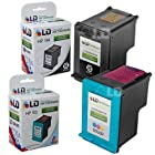 LD © Remanufactured Replacement Ink Cartridges for Hewlett Packard (HP) C8765WN (HP 94) Black and C8766WN (HP 95) Color (1 Black and 1 Color)